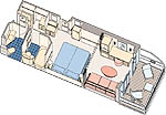 disney cruise deluxe stateroom category 5 and 6 with balcony